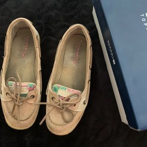 Sperry Angelfish with sequined floral design
